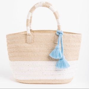 Cute Straw Beach Tote (NWOT)